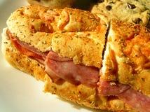 De Sandwich van de lunchtijd Royalty-vrije Stock Foto's