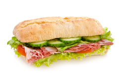 De sandwich van de salami Stock Foto's