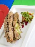 De sandwich van de Teriyakikip Stock Afbeeldingen
