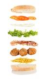 De sandwich van de vleesbal Royalty-vrije Stock Afbeelding