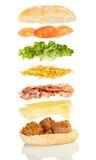 De sandwich van de vleesbal Stock Afbeelding
