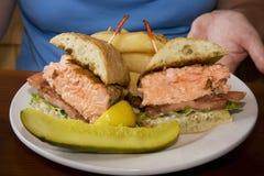 De Sandwich van de zalm Royalty-vrije Stock Foto