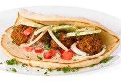 De Sandwich van Falafel Stock Afbeeldingen