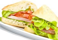 De Sandwich van Focaccia royalty-vrije stock afbeeldingen