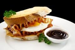 De Sandwich van het bacon en van het Ei Royalty-vrije Stock Afbeelding