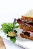 De Sandwich van het braadstukrundvlees stock afbeeldingen