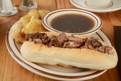 De sandwich van het braadstukrundvlees Royalty-vrije Stock Afbeeldingen