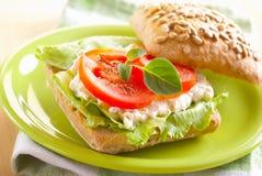 De sandwich van het broodje Stock Fotografie