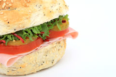 De sandwich van het de hamburgerbroodje van het brood royalty-vrije stock afbeelding
