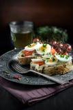 De sandwich van het ei en van de tuinkers Royalty-vrije Stock Afbeeldingen