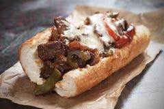 De sandwich van het de kaaslapje vlees van Philly Stock Fotografie