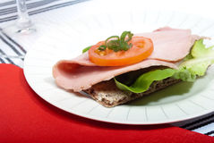 De sandwich van het knäckebrood Stock Afbeelding