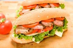 De Sandwich van het lapje vlees stock afbeeldingen