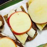 De sandwich van het Nutellafruit Royalty-vrije Stock Afbeelding