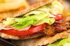 De Sandwich van het Pitabroodje BLT Stock Foto