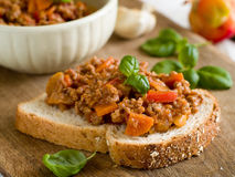 De sandwich van het rundvlees Stock Afbeeldingen