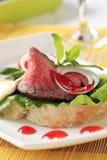 De Sandwich van het Rundvlees van het braadstuk stock afbeeldingen