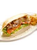 De sandwich van Kebap op schotel Royalty-vrije Stock Foto