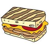De sandwich van kippenpanini Royalty-vrije Stock Foto