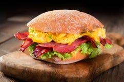 De Sandwich van roereieren royalty-vrije stock afbeelding