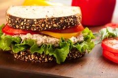 De Sandwich van Sald van de tonijn Royalty-vrije Stock Foto's