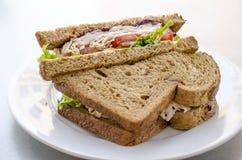 De sandwich van Turkije Royalty-vrije Stock Afbeeldingen