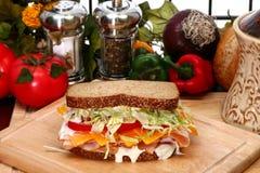 De Sandwich van Turkije royalty-vrije stock fotografie