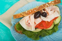 De sandwich van Turkije Royalty-vrije Stock Afbeelding