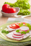 De sandwiches van Ciabatta Royalty-vrije Stock Fotografie