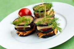 De sandwiches van de aubergine Stock Afbeelding