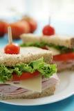 De sandwiches van de ham Stock Foto's