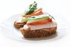 De sandwiches van de ham Stock Foto