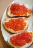 De sandwiches van de kaviaar royalty-vrije stock foto