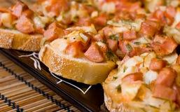 De sandwiches van de pizza Royalty-vrije Stock Afbeeldingen
