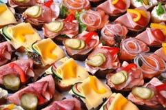 De sandwiches van Fingerfood Stock Afbeeldingen