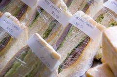 De Sandwiches van Turkije en van de Ham Stock Afbeeldingen
