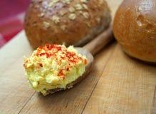 De Sandwichingrediënten van de eisalade Stock Foto