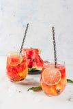 De sangria van de watermeloenzomer Stock Fotografie