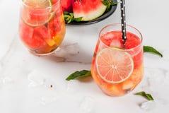 De sangria van de watermeloenzomer Royalty-vrije Stock Afbeelding
