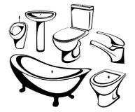 De sanitaire technicusreeks Royalty-vrije Stock Fotografie