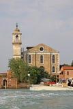 De Santa Maria degliangelössen kyrktar, Murano, Italien Arkivbild