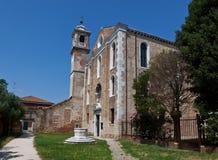 De Santa Maria-kerk van degliangelussen, Murano, Italië Stock Foto's