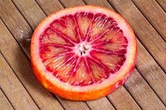 De sappige besnoeiings Siciliaanse sinaasappel Royalty-vrije Stock Fotografie