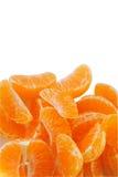 De sappige segmenten van de mandarijn. Stock Afbeelding