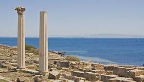 De Sardische Ruïnes van Tharros stock foto