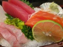 De sashimi met dient Royalty-vrije Stock Afbeelding