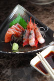 De Sashimi van garnalen Royalty-vrije Stock Fotografie