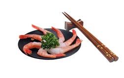 De sashimi van garnalen nog stock foto's