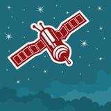 De satelliet in de hemel stock illustratie