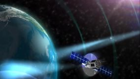 De satelliet ruimtebol van de baanaarde stock illustratie